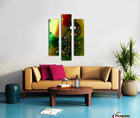 GREEN MONSTER Canvas print