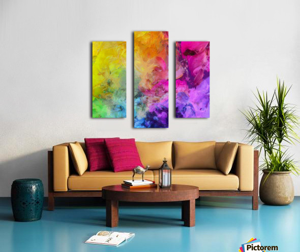 Bright Colorful Abstract Painting Canvas print