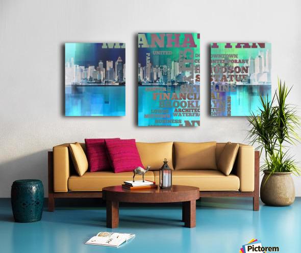 Manhattan harbor Canvas print