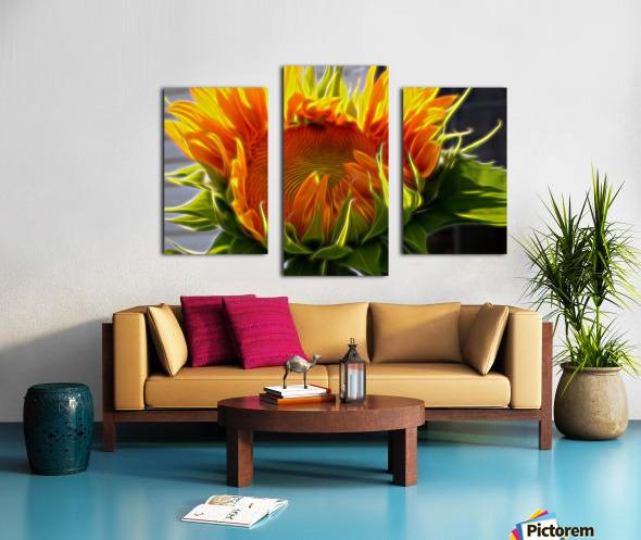 Glowing Sun Canvas print