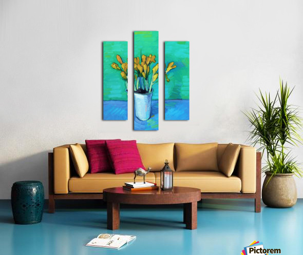Crocuses Canvas print