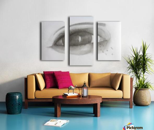 VCumper Birds in the eye 2018 Canvas print