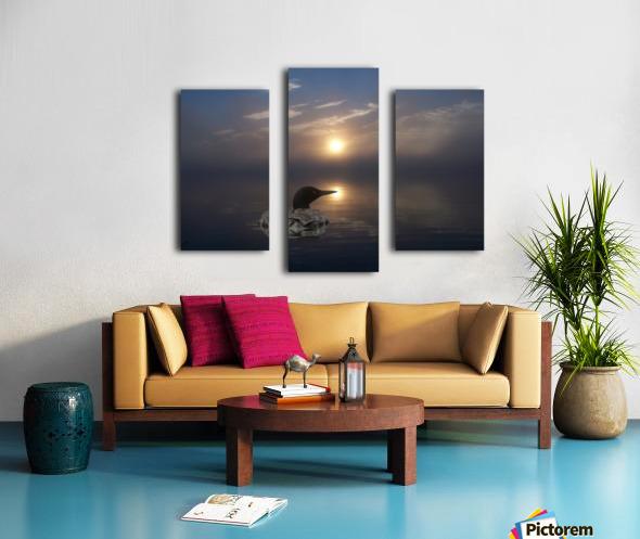LoonAtSunrise_1527463927.19 Canvas print