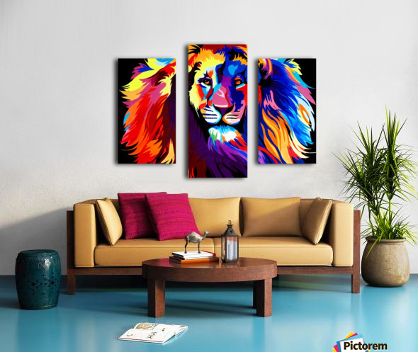 Lion Rainbow Canvas print
