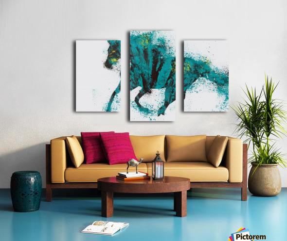 Running Canvas print