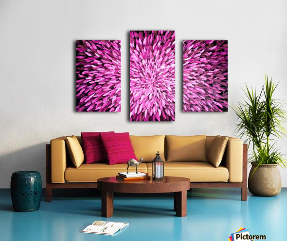 Purple Impression sur toile