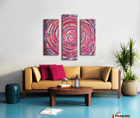 Circles Canvas print