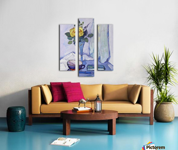 Still Life with Yellow Rose Canvas print