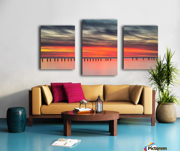 Striking Sunset at Clifton Springs Canvas print