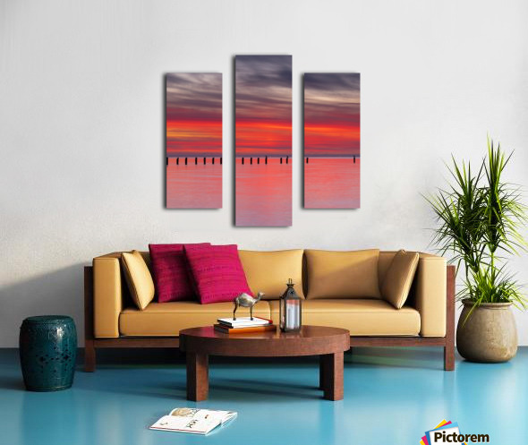 Pink Sunset over Water Canvas print