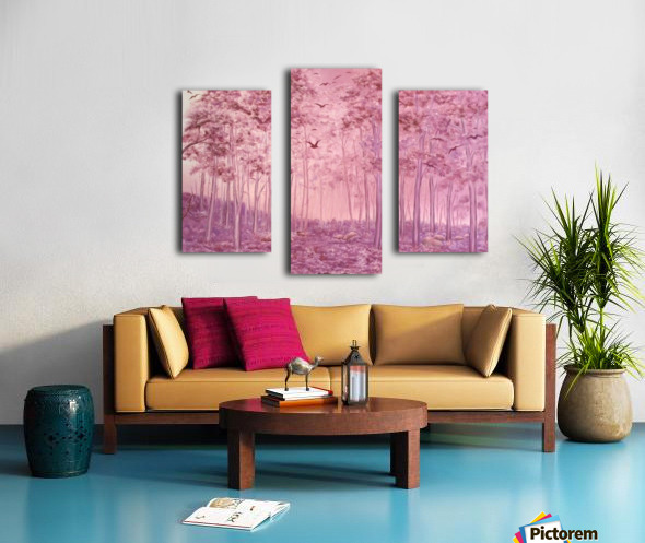 Pink Woods Canvas print