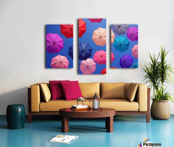 Colorful umbrella Canvas print
