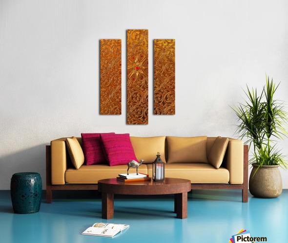 Golde pattern Canvas print