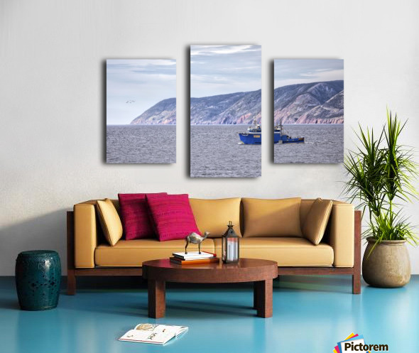 The Atlantic Gale with text Canvas print