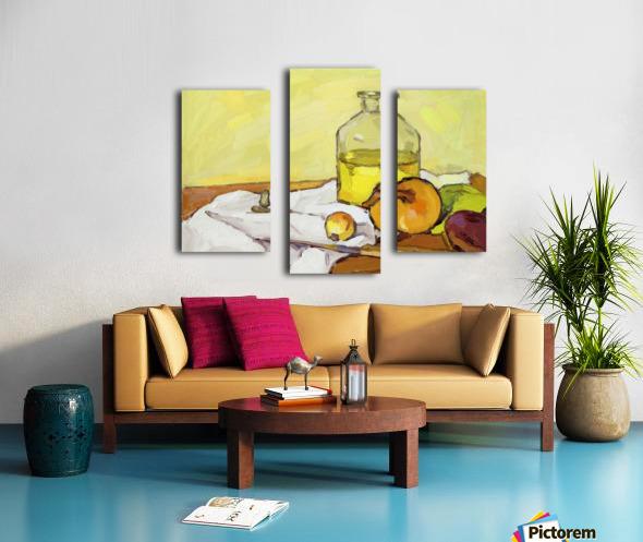 Still Life with Onion-2 Canvas print