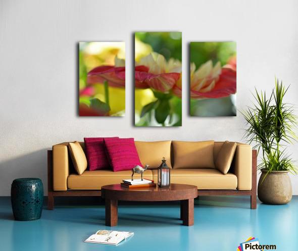 Garden Flowers Art Photograph Canvas print