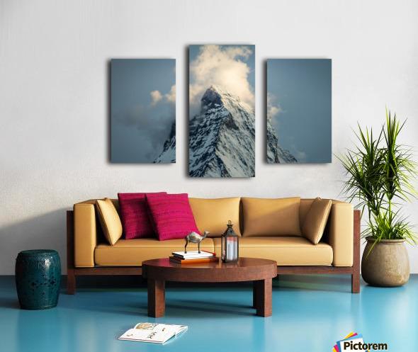 Matterhorn Glow Blue Canvas print