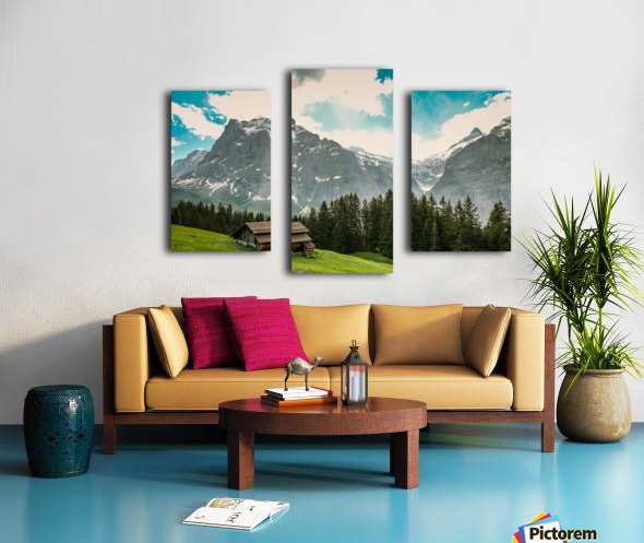 Hut on a hill Canvas print