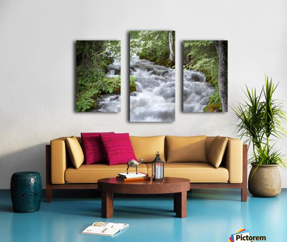 Beautiful Waterfall Photos - Alaska Canvas print