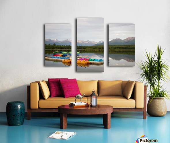 Alaska Lake and Sporting Impression sur toile
