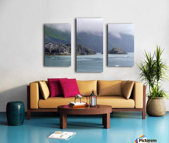 Alaska Scenery Pictures of Icebergs  Impression sur toile