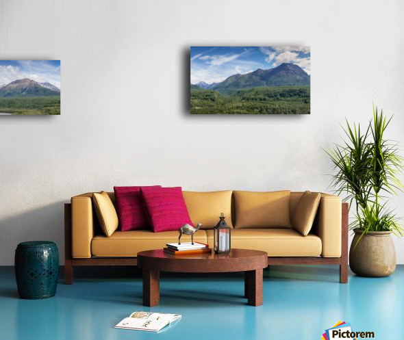 Photos Alaska Mountain Panorama Canvas print