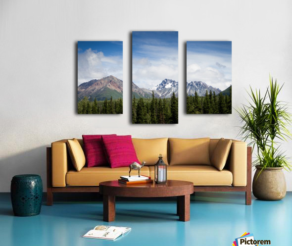 Photos Alaska Mountains Impression sur toile
