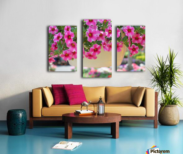 Beautiful Pink Flowers Photograph Canvas print