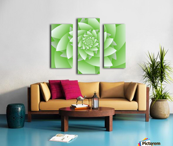 Greeny Floral Canvas print