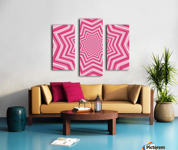 Pink Geometric Design Art Canvas print