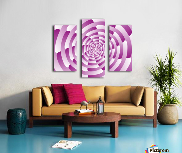 Abstract Pink Spiral Art  Canvas print