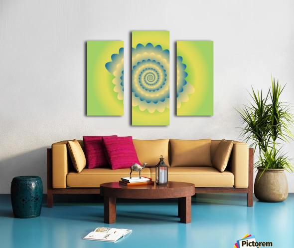 3D Flower Artwork Canvas print