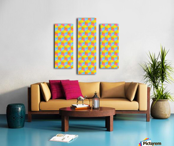 Hexagon Seamless Pattern Artwork Canvas print