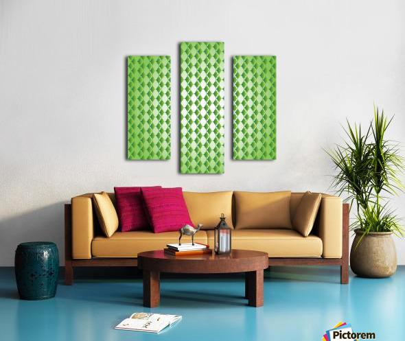 Islamic Art Green Color Artwork Canvas print