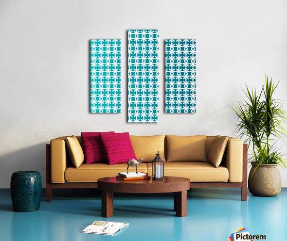 Floral Gradient Seamless Pattern Artwork Canvas print