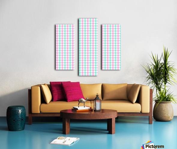 Pink _ Blue Star Seamless Pattern Artwork Canvas print