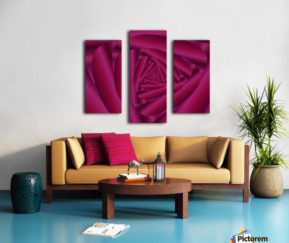 Pink Color Rose Swirl Art Canvas print