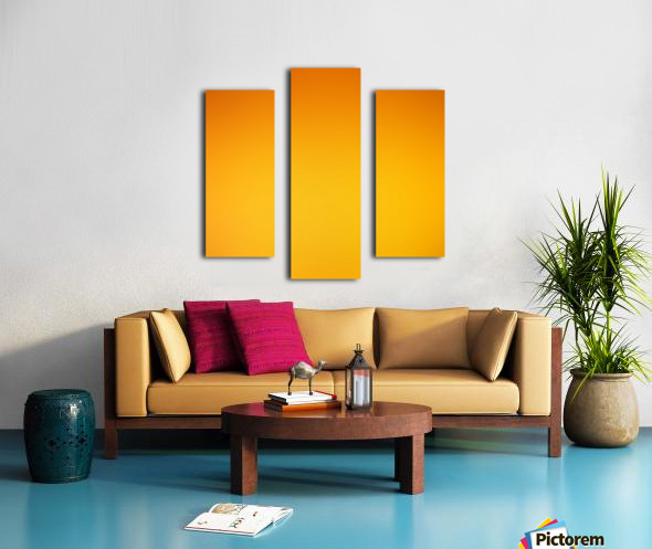 Orange Gradient Background Canvas print