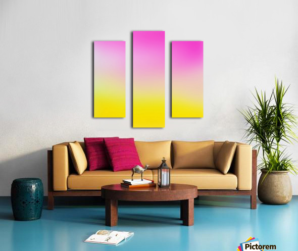 pink to yellow Gradient Background Canvas print
