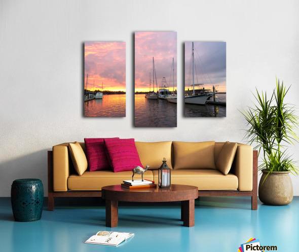 Sunset Sailboat 2 Canvas print