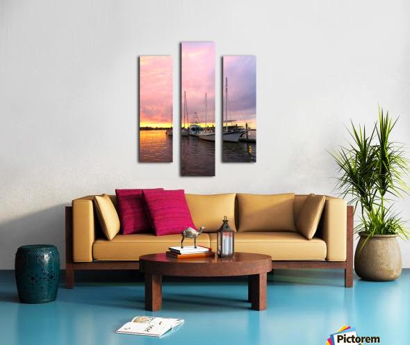 Sunset Sailboat Canvas print