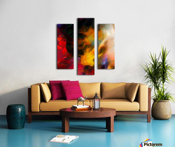 Colorful oil on canvas Canvas print