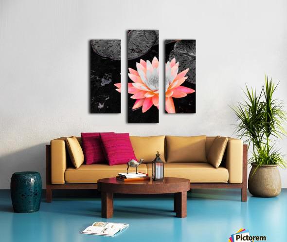Lotus Impression sur toile