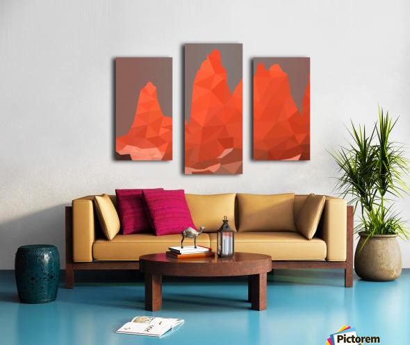 Torres del Paine National Park Low Poly Art  Canvas print