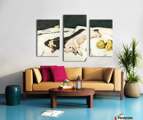 Dead hares by Albin Egger-Lienz Canvas print