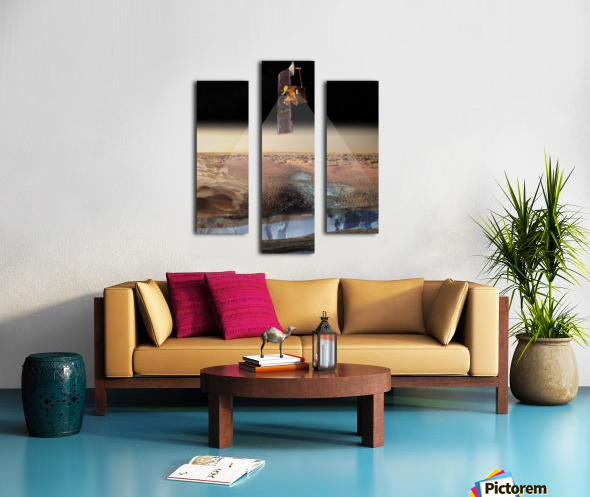Artists View of Odyssey Detecting Ice. Canvas print