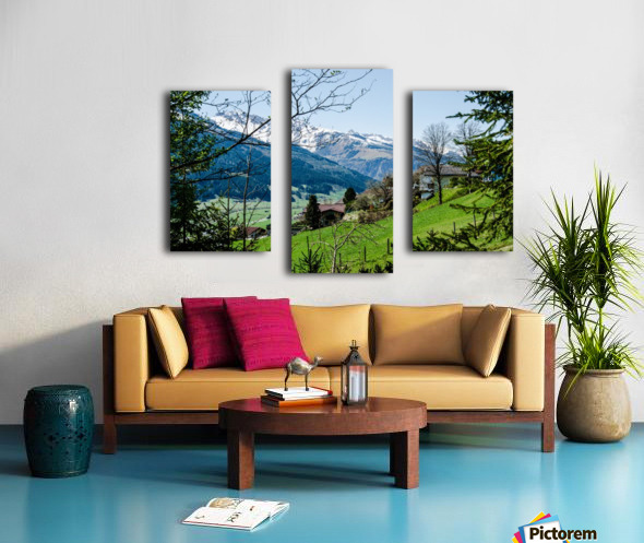In The Alps Canvas print