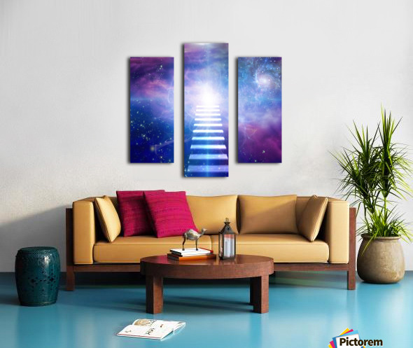 Steps up into cosmos Canvas print