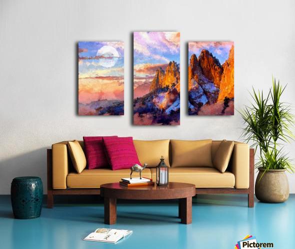 Colorado Mountains - Digital Painting III Canvas print