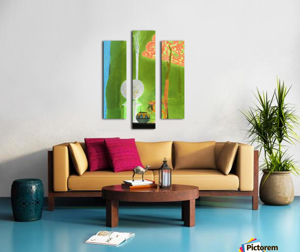 Altar to Unnamed Gods -- Kiwi Green Canvas print